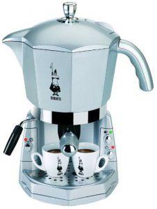 Bialetti Mokona Espressosiebträgermaschine mit 3-fach Brühsystem